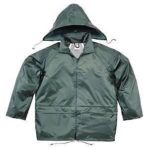 Regnställ Deltaplus, arbetsjacka och byxa, grönt, stl. XL