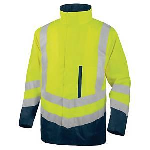 Parka haute visibilité 4 en 1 Deltaplus Optimum2 - jaune/bleu - taille L