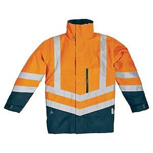 Parka haute visibilité 4 en 1 Deltaplus Optimum2 - orange/bleu - taille L