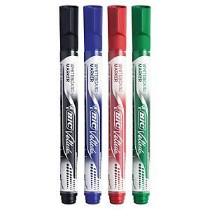 Marqueur Bic Velleda Pocket - effaçable à sec - pointe ogive moyenne - 4 coloris