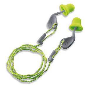 Uvex Xact-Fit pair of corded earplugs 26 dB - per pair