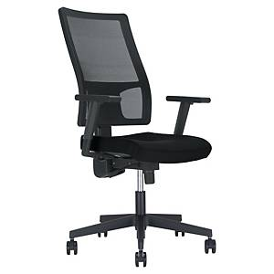 Melik bureaustoel, stof/mesh, zwart