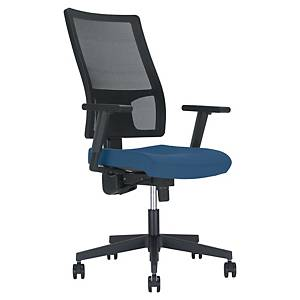 Melik bureaustoel, stof/mesh, blauw