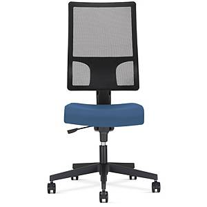 Chaise de bureau Synchron Melik, polyester, bleu