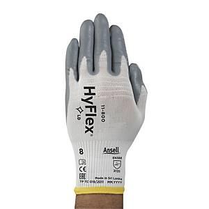 Gants précision Ansell Hyflex 11-800, revêtement nitrile, taille 8, 12 paires
