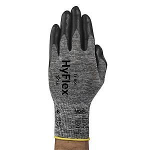 Gants précision Ansell Hyflex 11-801, revêtement nitrile, taille 10, 12 paires