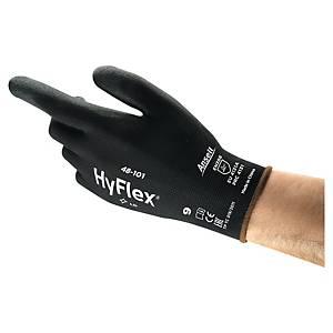 Guanti protezione meccanica Ansell Hyflex® 48-101 nero tg 8