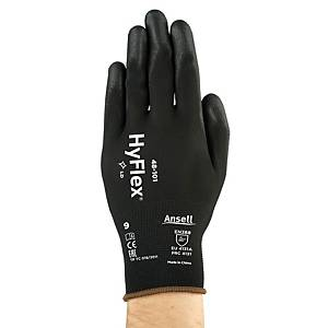 ANSELL 48-101 SENSILITE MULTIPURPOSE GLOVES BLACK SIZE 9 (PAIR)