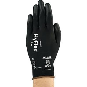 Mechanikschutzhandschuhe Hyflex 48-101, Mehrzweck, Größe 10, schwarz, 12 Paar