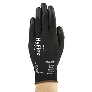 Gants universels Ansell Hyflex 48-101, revêtement PU, taille 10, les 12 paires