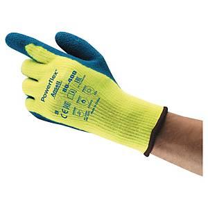 Kälteschutzhandschuhe Ansell PowerFlex 80-400, Typ EN511 020, Gr.10, blau/gelb