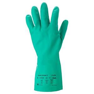 Ansell Solvex 37-675 chemische handschoenen, nitril gecoat, maat 9, per 12 paar