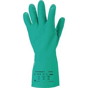 Chemikalienschutzhandschuhe AlphaTec Solvex 37-675, Nitril, Größe  9, 12 Paar
