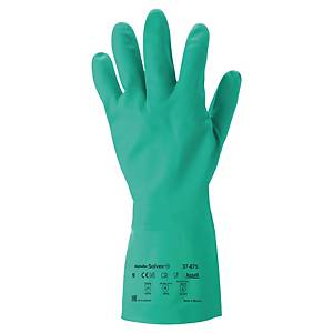 Caja de 12 pares de guantes químicos Ansell Solvex 37-675 - nitrilo - talla 9