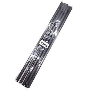 Hata Plastic Combs 8mm Black - Pack of 10