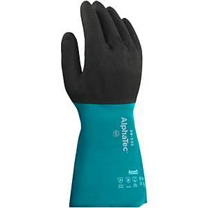 Ansell Alphatec 58-535W chemische handschoenen, nitril gecoat, maat 9, 6 paar