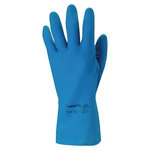 Chemikalienschutzhandschuhe Universal 87-195, Natural Rubber, Gr. 6,5-7, bl, 1 P