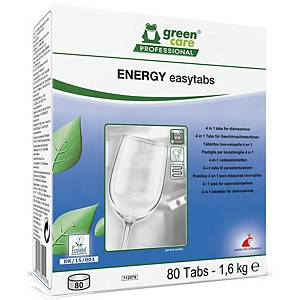 Opvasketabs Green Care Energi Easytabs 4-i-1, æske a 80 stk.