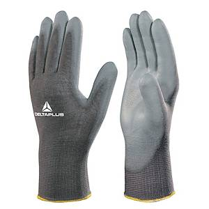 Deltaplus VE702 High-Tech Fine Handling Gloves - Grey - Size 8