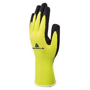 Delta Plus Apollon Hi-Viz latex gloves yellow - size 8 - pack of 12 pairs