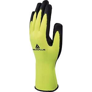 Delta Plus Apollon Hi-Viz latex gloves yellow - size 10 - pack of 12 pairs