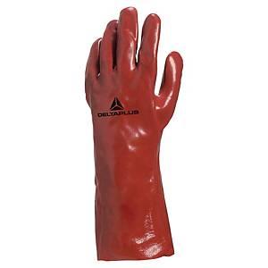 Mehrzweckhandschuhe Deltaplus PVC7335, PVC, Größe 10, rot, 1 Paar