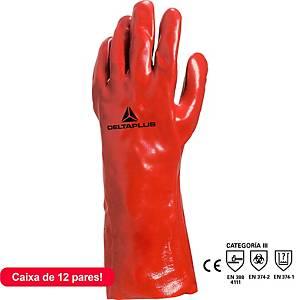 Caixa de 12 pares de luvas químicos Deltaplus 7335 - PVC - tamanho 10