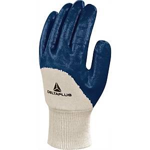 Guanti protezione meccanica Deltaplus NI150 in nitrile blu tg 7