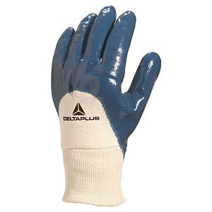 Deltaplus NI150 Schutzhandschuhe für schwere Arbeiten, weiss/blau, Grösse 10