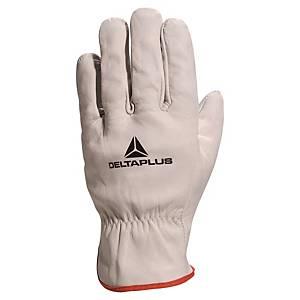 Delta Plus FBN49 leathergrain handling gloves - size 10 - pack of 12 pairs