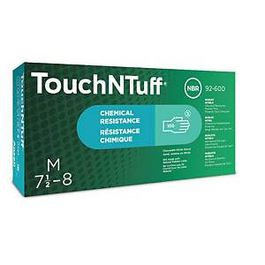 Ansell TouchNTuff® 92-600 disposable nitrile gloves, size 7.5-8, 100 pieces