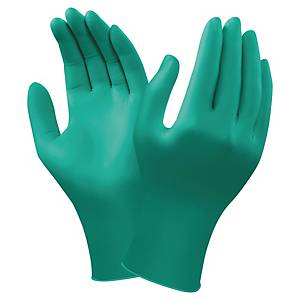 Ansell Touch-N-Tuff 92-600 Nitrile Gloves Green Size 9 (Box of 100)