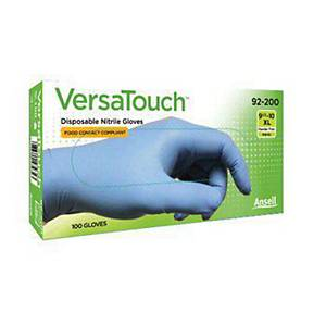 Ansell Versatouch 92-200 nitrile gloves length 240 - size 8 - box of 100