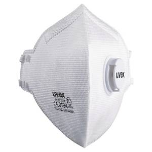 Uvex respirator mask with valve FFP 3 flatfold - box of 15 pieces