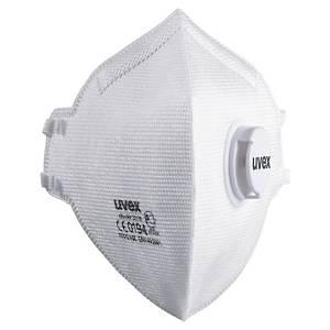 Caixa 15 máscaras descartáveis Uvex Silv-Air 3310 - FFP3 - dobradas com válvula