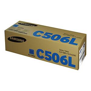 Samsung CLT-C506L High Yield Cyan Toner Cartridge (SU038A)