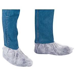 VENITEX POLYTHENE OVERSHOES WHITE - BOX OF 50