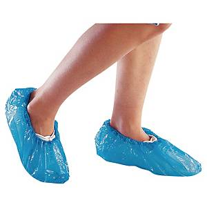 Delta Plus disposable overshoes PE blue - box of 50