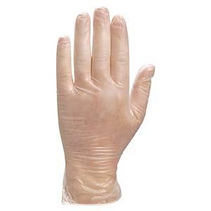 Delta Plus Venitactyl 1371 disposable vinyl gloves - box of 100 - size 9