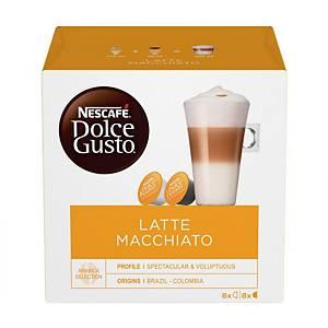 Nescafe Dolce Gusto Latte Macchiato Capsule - Pack of 16