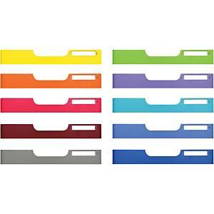 Skuffefront Modulo, A4, assorterede farver, pakke a 10 stk.