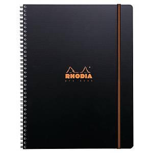 Cahier spirale Rhodiactive Probook A4+ - 160 pages - quadrillé
