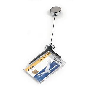 ID-kortholder Durable deluxe, med yoyo, til 1 kort, æske a 10 stk.
