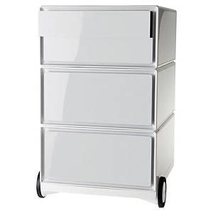 Caisson mobile en métal Paperflow Easybox - 4 tiroirs - blanc