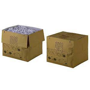 Makulatorpose Rexel, genbrugspapir, 80 L, pakke a 50 stk.