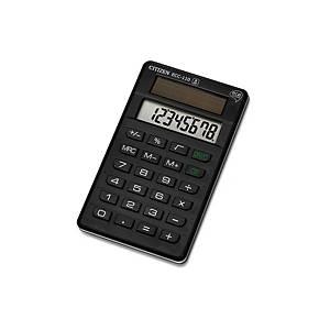 Calculatrice de poche Citizen ECC-110, affichage de 8chiffres, noir