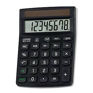 Taschenrechner Citizen ECC-210, 8-stellige Anzeige, schwarz