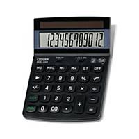 Calculatrice de poche Citizen ECC-310, affichage de 12chiffres, noir