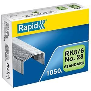 Agrafes Rapid RK8/6, Typ B8, 6 mm, emb. de 1050 pces.