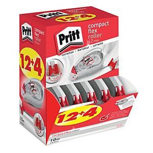 Correttore a nastro Pritt Roller Compact 4,2 mm x 10 m - conf. 12 + 4 gratis